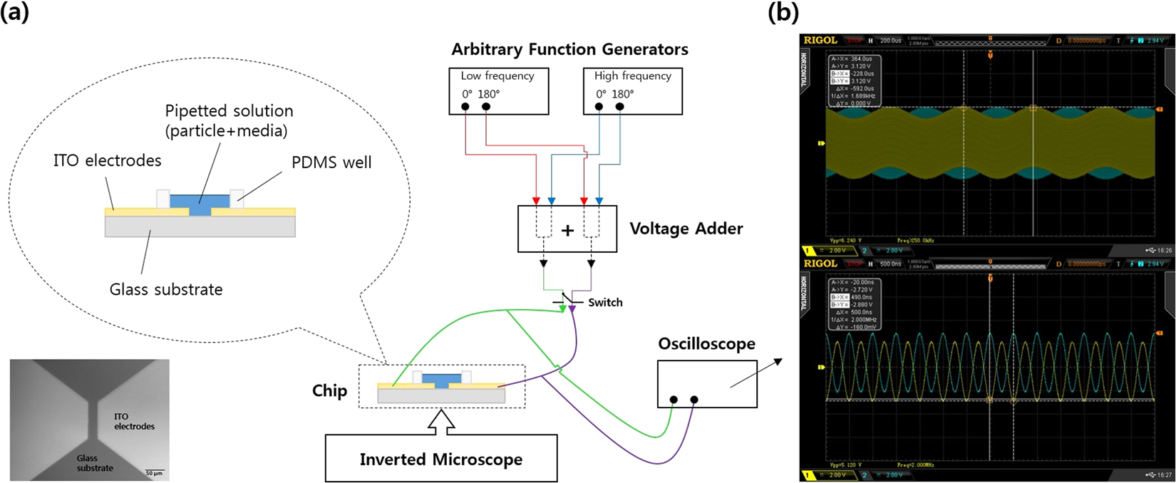 Rapid And Selective Concentration Of Bacteria Viruses Proteins Alternating Square Pulse Generator Circuit Diagram Using Current Signal Superimposition On Two Coplanar Electrodes