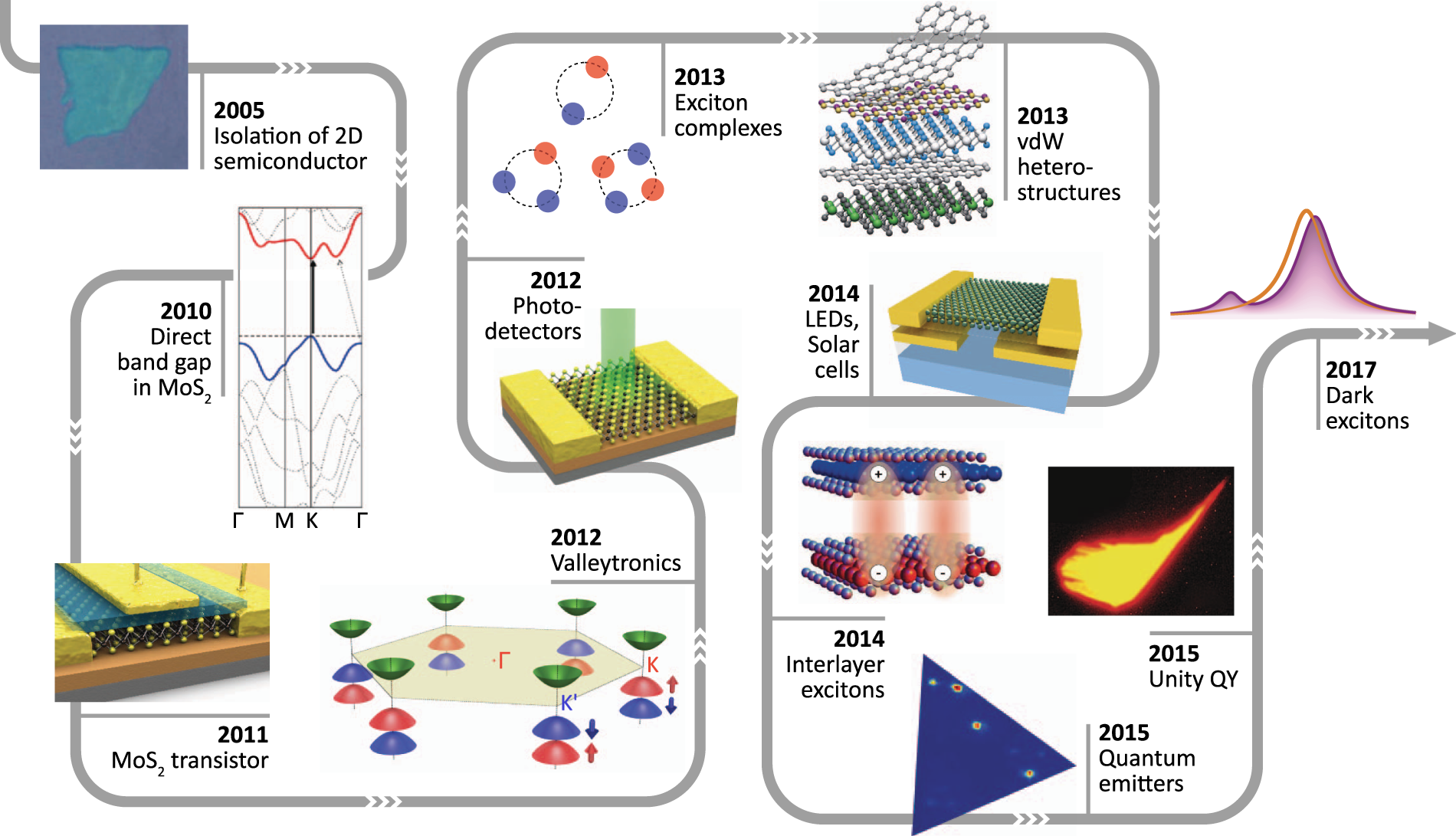 Exciton physics and device application of two-dimensional