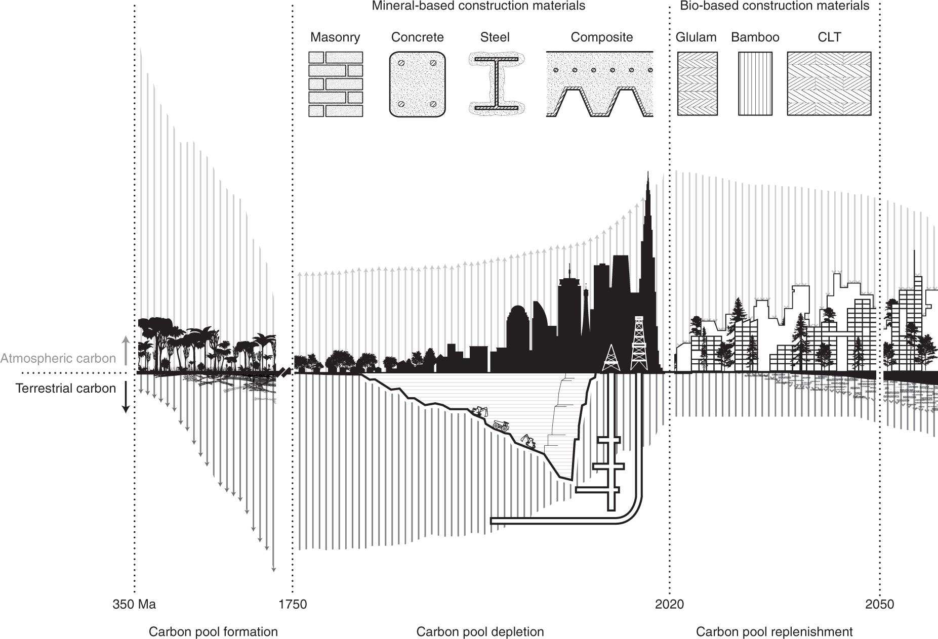 Buildings as a global carbon sink