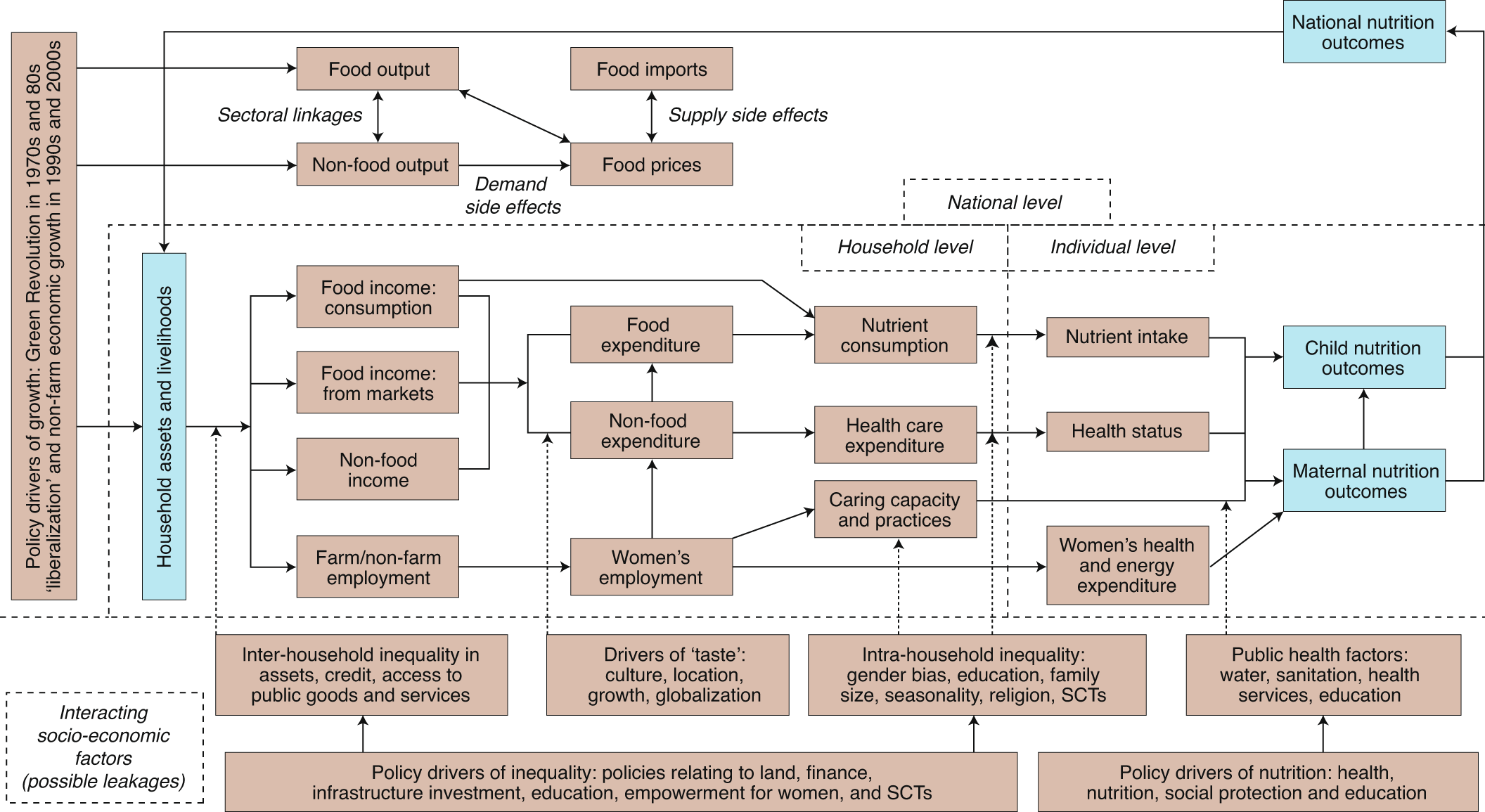 Conceptual frameworks linking agriculture and food security ...