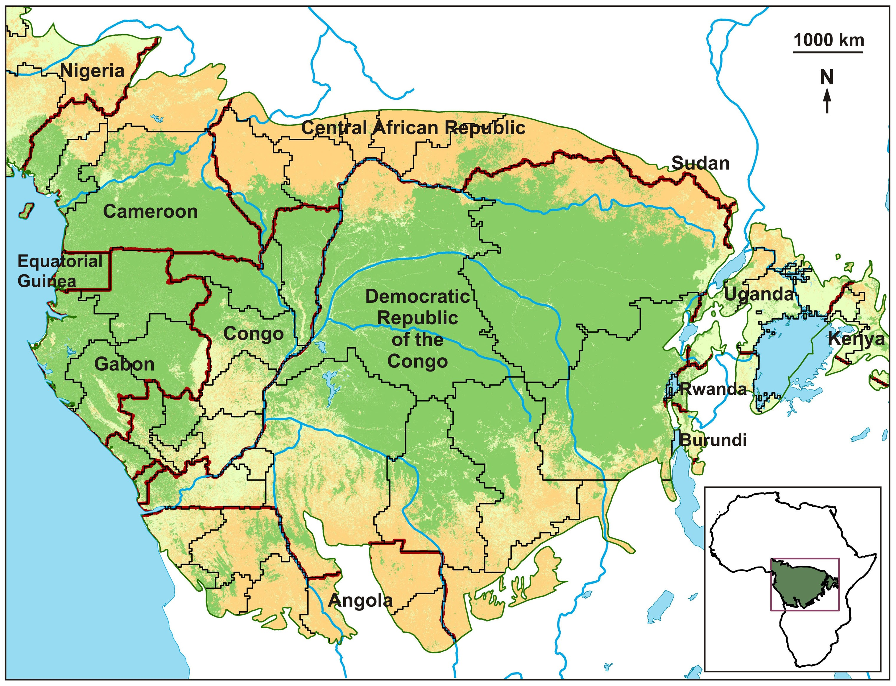 Map Of African Rainforest.Disentangling The Relative Effects Of Bushmeat Availability On