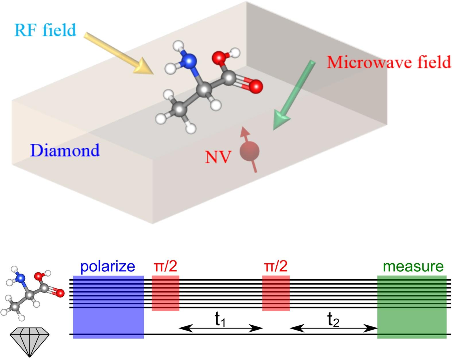 Resolving single molecule structures with Nitrogen-vacancy