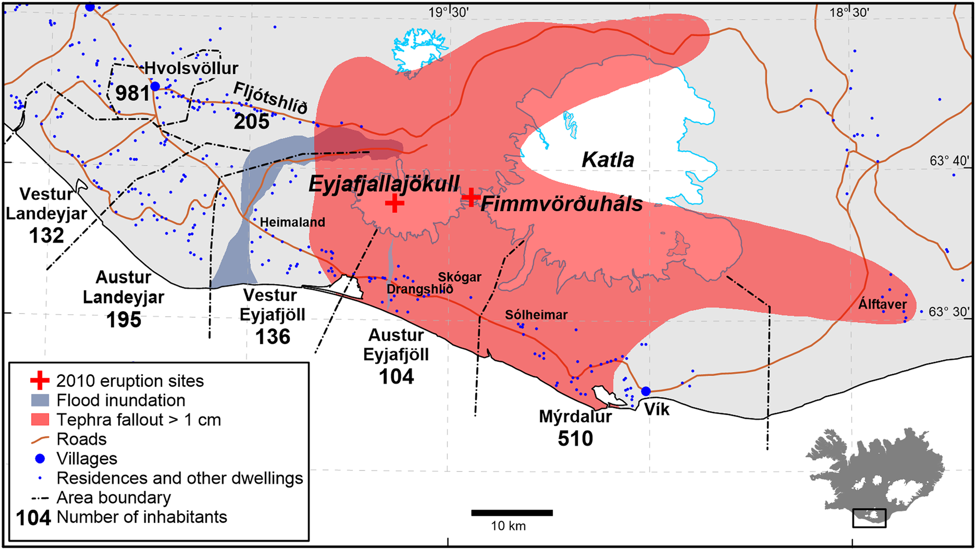 Responding to volcanic eruptions in Iceland: from the small