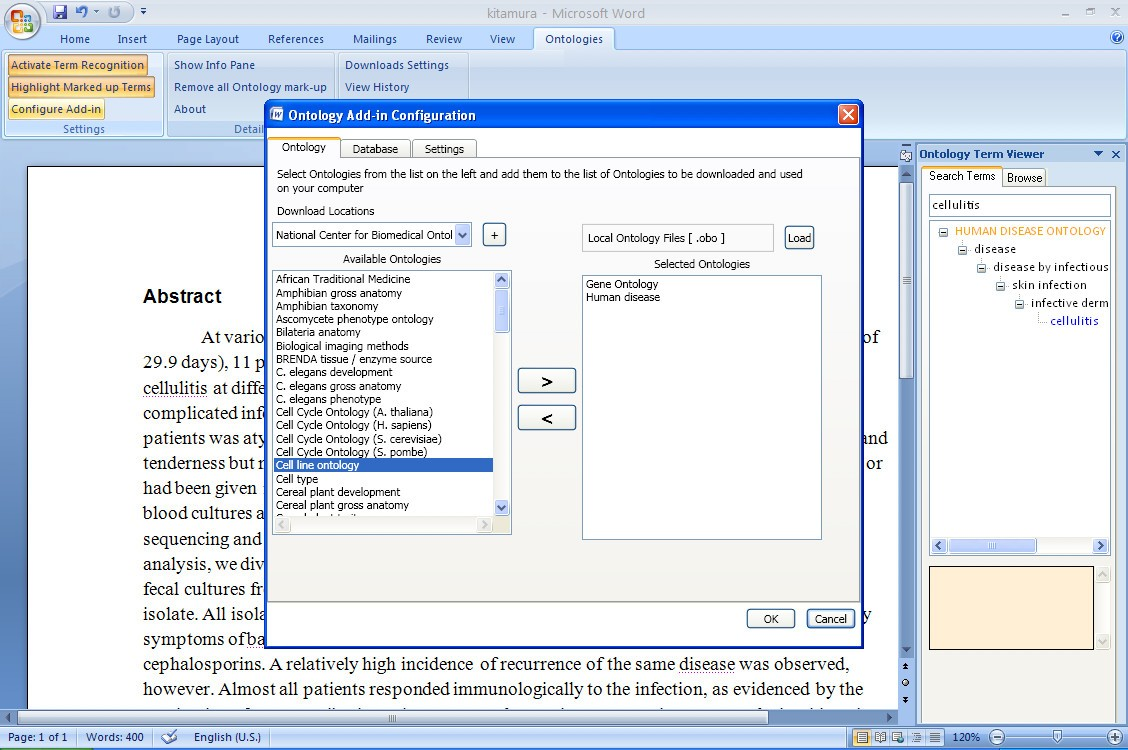word add in for ontology recognition semantic enrichment of