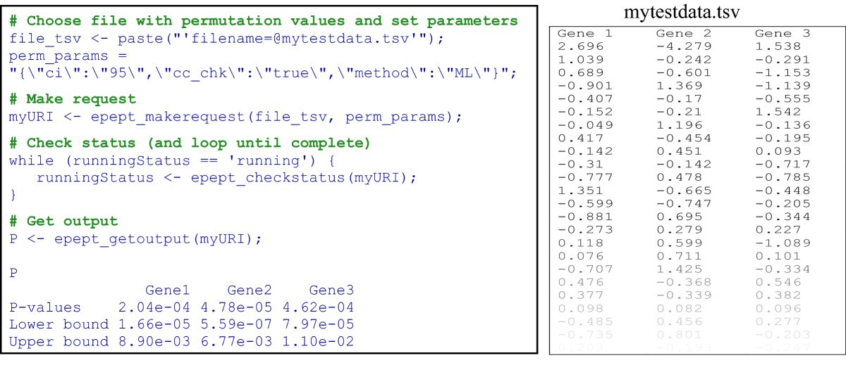 epept a web service for enhanced p value estimation in permutation