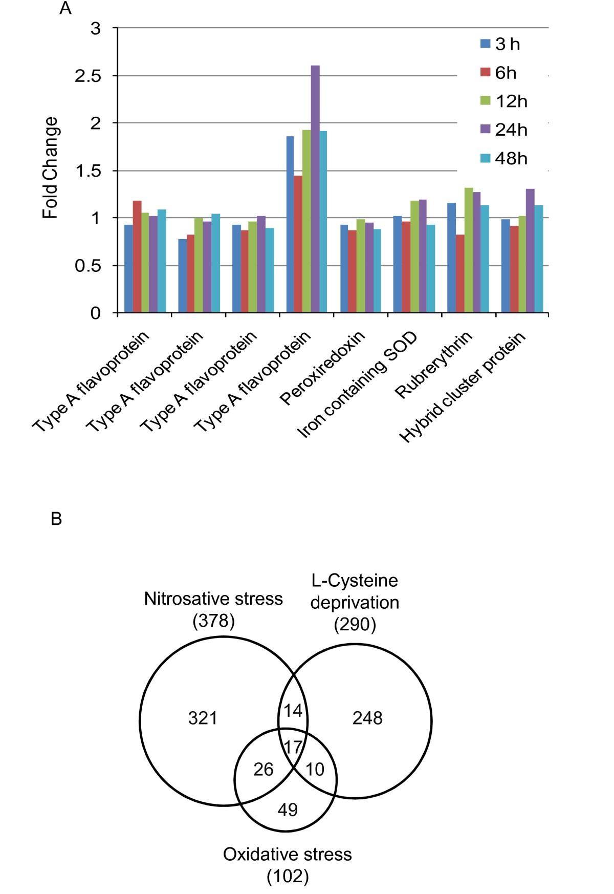Global analysis of gene expression in response to L-Cysteine