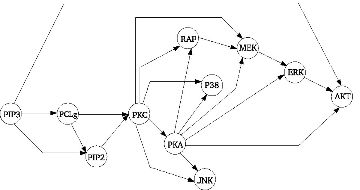 Comparing The Reconstruction Of Regulatory Pathways With Distinct