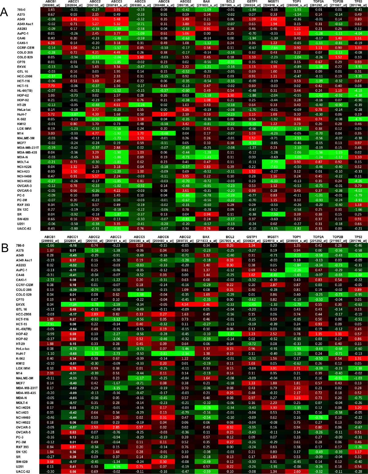 Gene expression profiling of 49 human tumor xenografts from in
