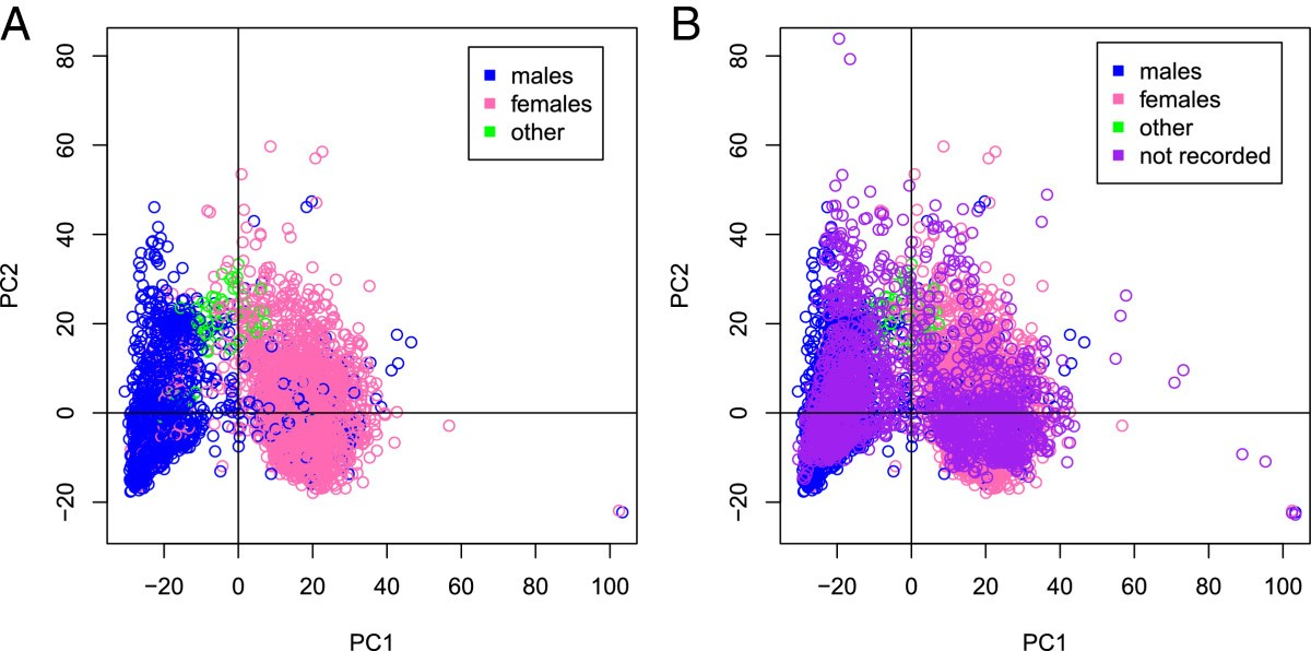 an analysis of the separation between sexes Sex-specific foraging behaviour and a field sexing technique for endangered african  analysis that predicts the  separation between sexes,.