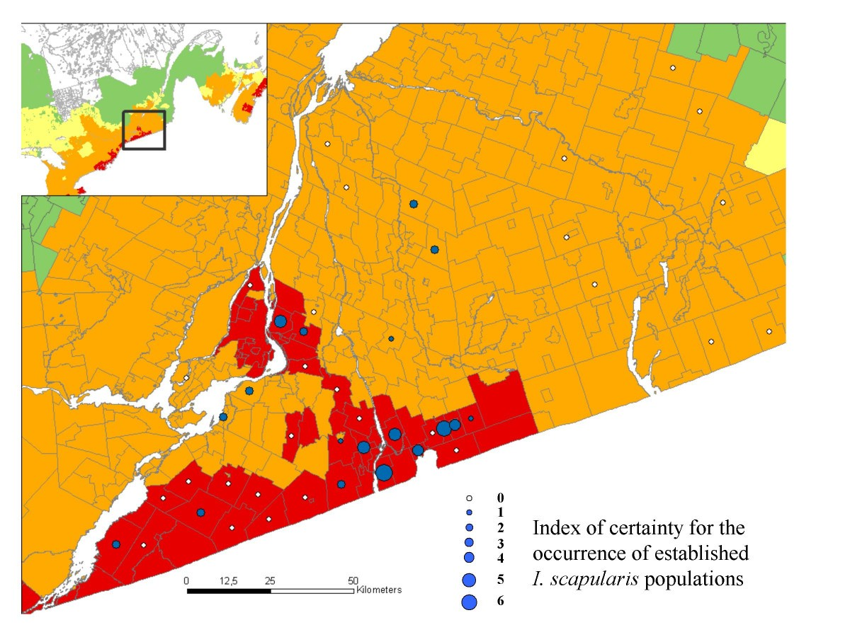 Lyme Disease Usa Map.Risk Maps For Range Expansion Of The Lyme Disease Vector Ixodes