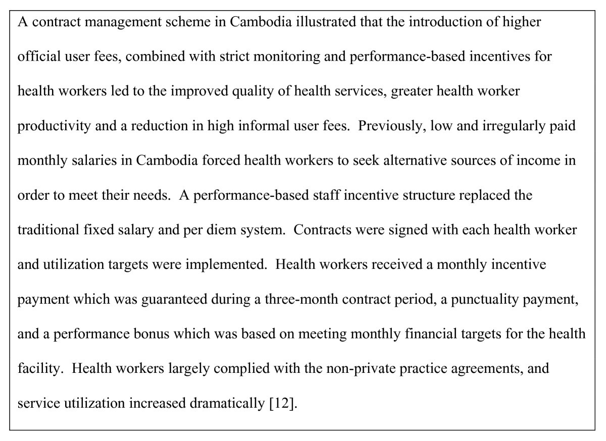 Incentives For Retaining And Motivating Health Workers In Pacific