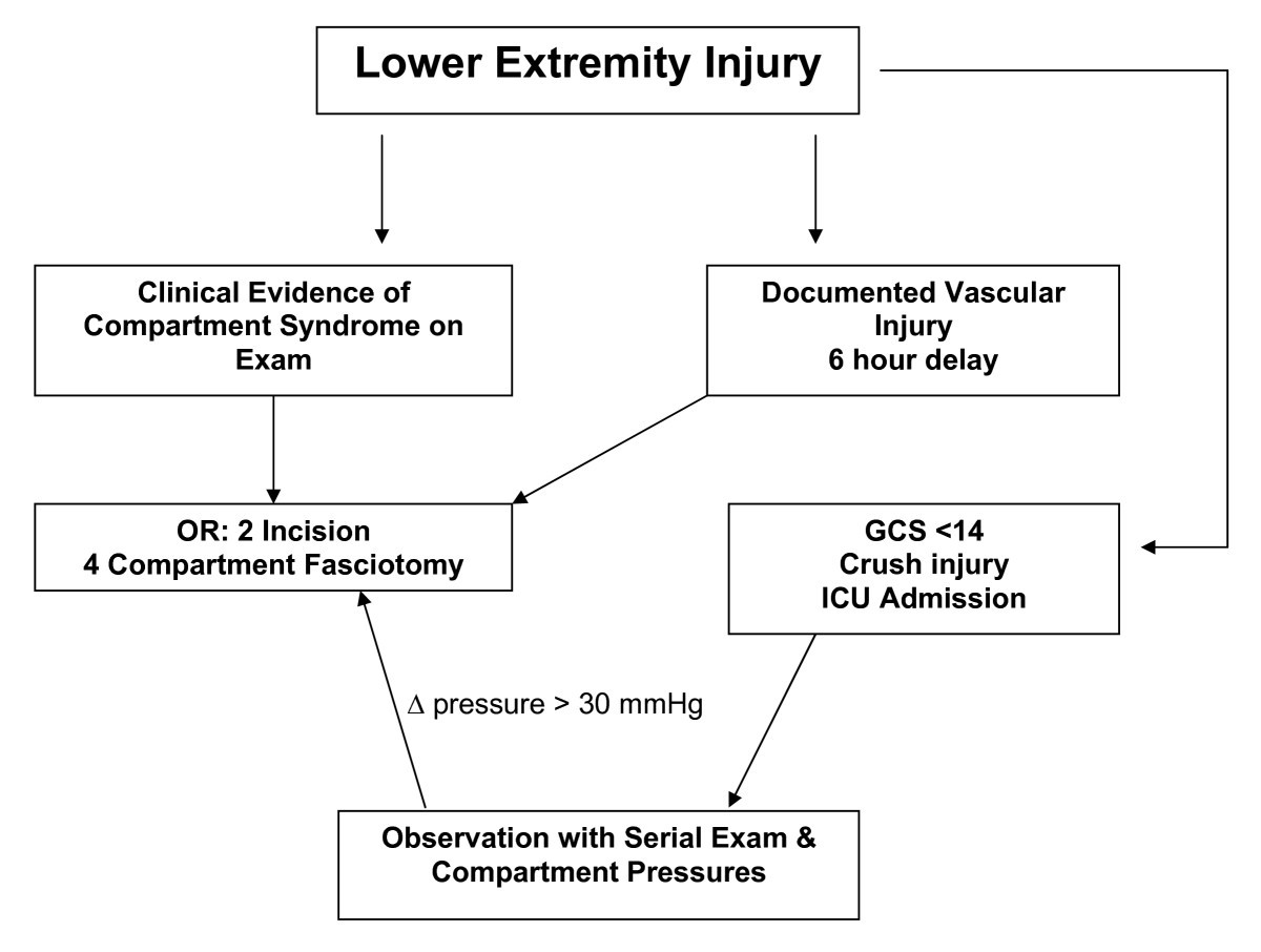 lower extremities diagram lower extremity compartment syndrome in the acute care surgery  lower extremity compartment syndrome in