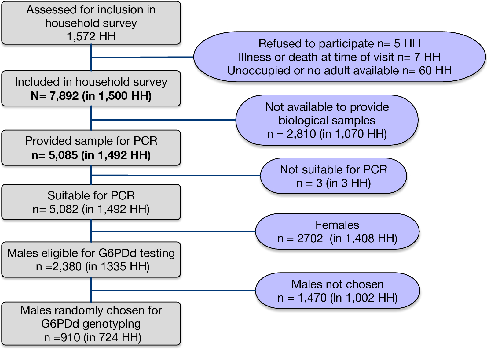 prevalence and risk factors for asymptomatic malaria and genotyping