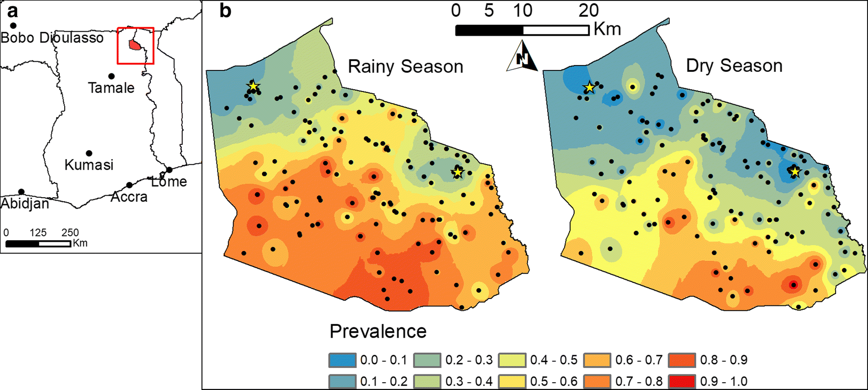 Detecting local risk factors for residual malaria in northern Ghana ...