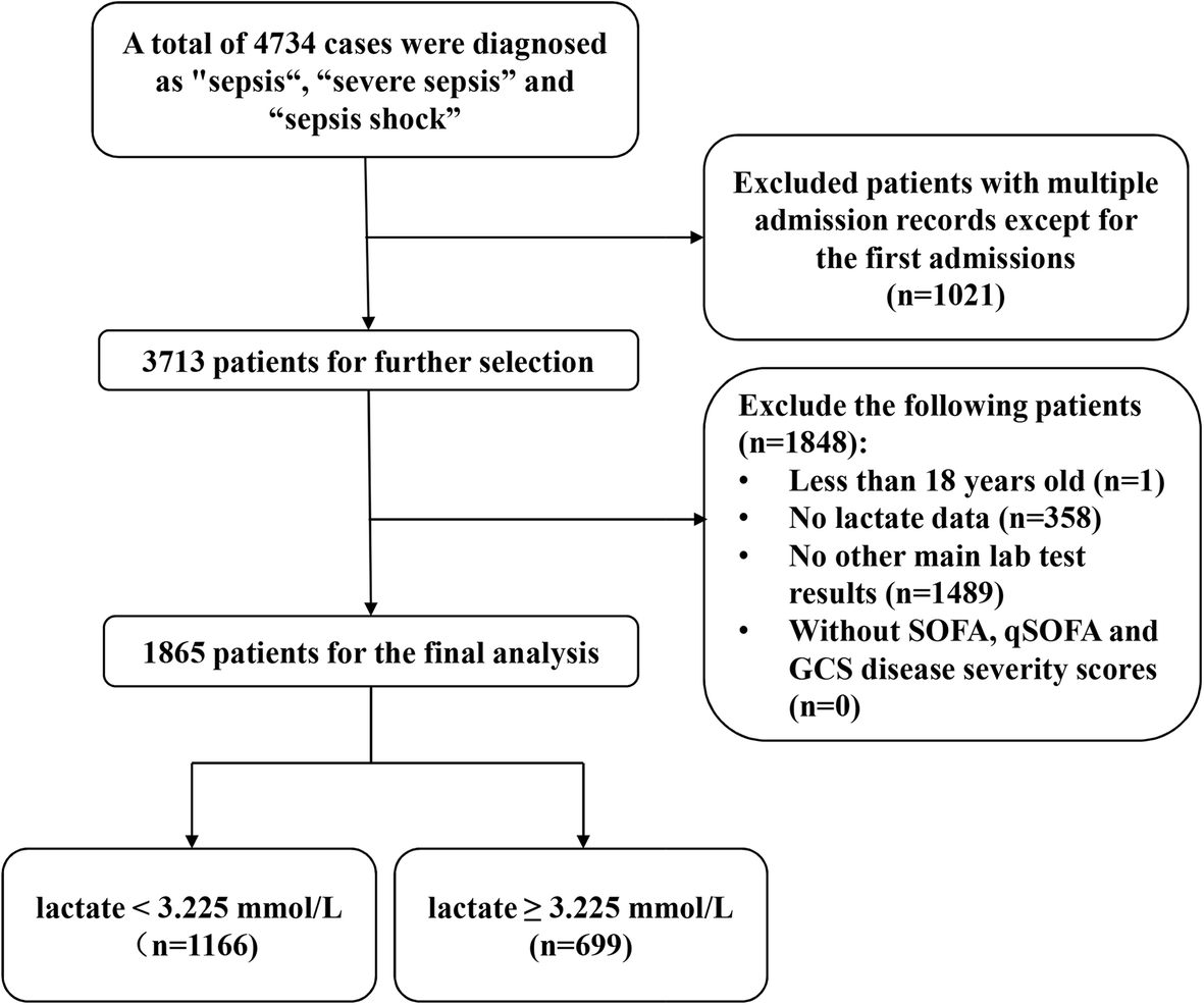 Prognostic Accuracy Of The Serum Lactate Level The Sofa Score And