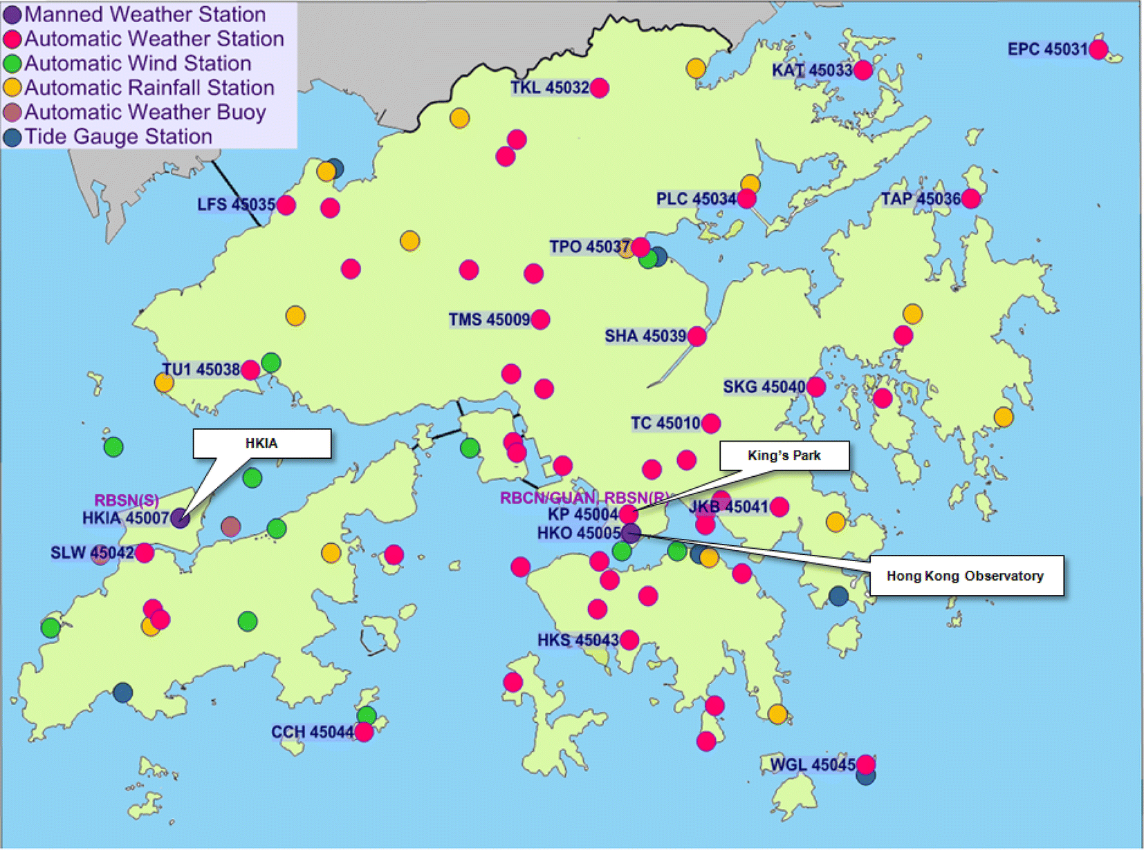 Hong Kong Weather Map.Urban Focused Weather And Climate Services In Hong Kong Geoscience