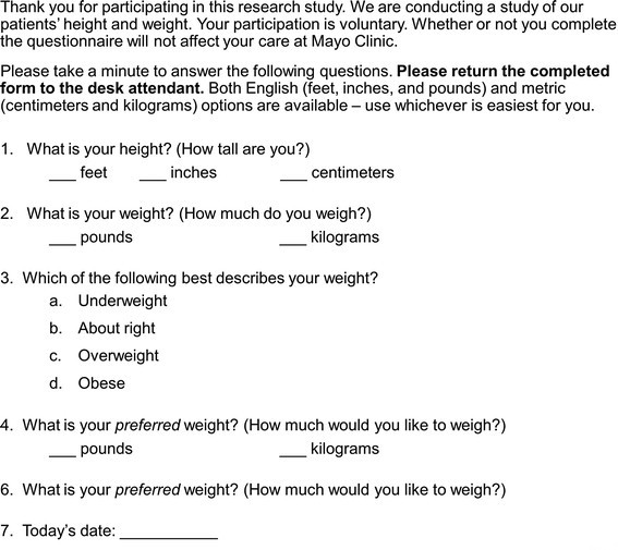 Self Perceived Vs Actual And Desired Weight And Body Mass Index In