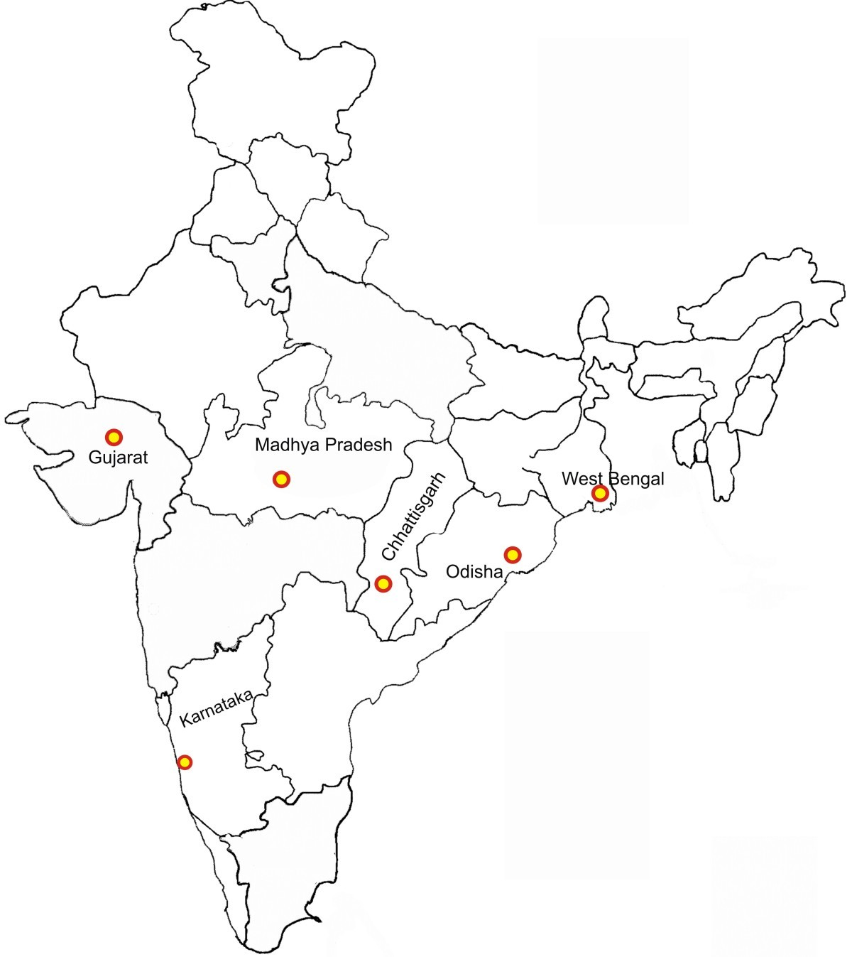 Image Result For Blank Map Of Gujarat