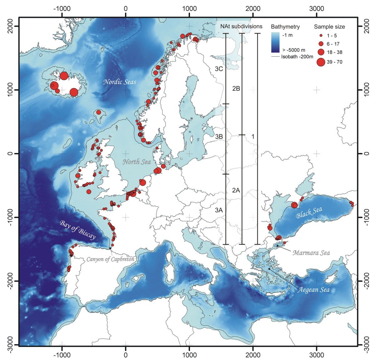 Rise Of Oceanographic Barriers In Continuous Populations