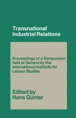 Basic Trends Affecting the Location of Decision-Making Powers in Industrial Relations