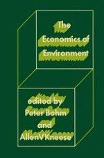 Background for The Economic Analysis of Environmental Pollution