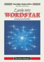 Word Processing with Wordstar