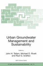 TOWARDS MANAGEMENT AND SUSTAINABLE DEVELOPMENT OF URBAN GROUNDWATER SYSTEMS