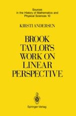 Brook Taylor's Role in the History of Linear Perspective