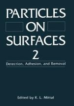 The Adhesion of Small Particles to a Surface