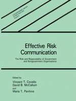 Principles and Guidelines for Improving Risk Communication