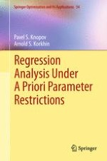 Estimation of Regression Model Parameters with Specific Constraints