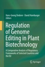 Introduction: Regulation of Plants Derived from Genome Editing—What Lessons To Be Learned from Other Countries?