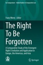 The Right to Be Forgotten: The General Report—Congress of the International Society of Comparative Law, Fukuoka, July 2018