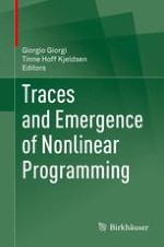A Historical View of Nonlinear Programming: Traces and Emergence