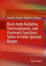 Black-Body Radiative Functions in a Given Spectral Range