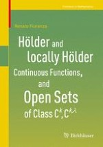 Hölder and locally Hölder continuous functions. The linear spaces