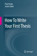 Transition to Your First Thesis