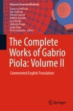 Introductory remarks about the Volume II of the Complete Works of Gabrio Piola