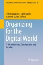 Organizing for the Digital World: An Overview of Current IT Solutions to Support Individuals, Communities and Societies