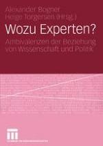 Sozialwissenschaftliche Expertiseforschung Zur Einleitung in ein expandierendes Forschungsfeld