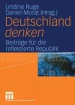 Deutschland denken Plädoyer für die reflektierte Republik
