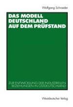 Wandel und Kontinuität: Modell Deutschland und Transformationsdebatte