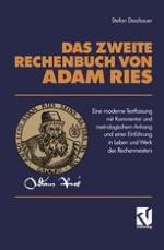 Adam Ries — Leben und Werk