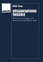Organisatorische Grundproblematik aus betriebswirtschaftlicher Sicht