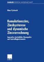 Einführung in den Problemkreis Kumulationszins, Zinshysterese und dynamische Zinsverrechnung