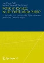 Einführung: Ist alle Politik lokale Politik?