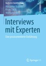 Einleitung: Das Expertinneninterview – eine Methode qualitativer Sozialforschung