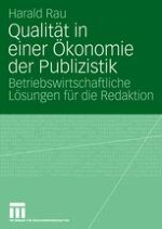 Kommerzialisierung, Meritorik und eine Ökonomie der Publizistik