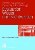 Evaluationsbasierte Steuerung, Wissen und Nichtwissen — Einführung in die Thematik