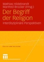 Der Begriff der Religion: interdisziplinäre Perspektiven